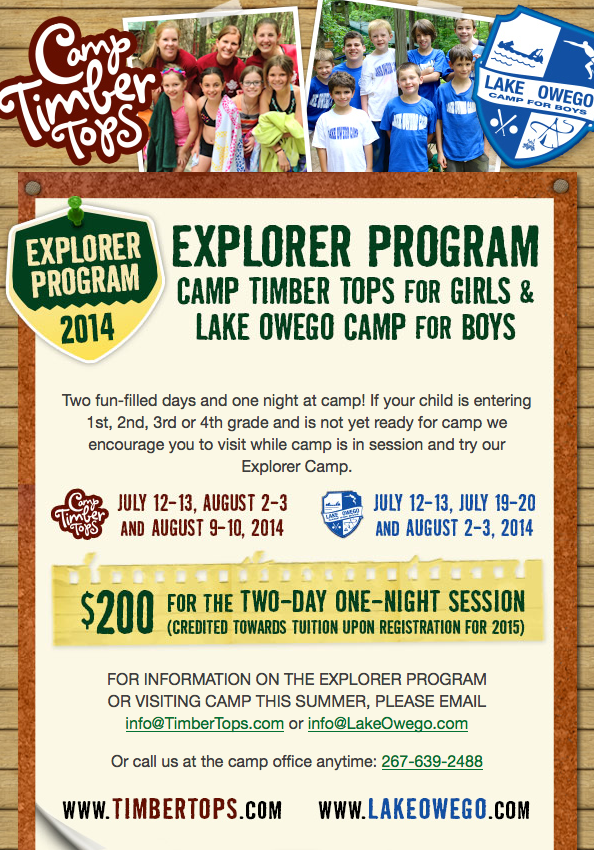 Explorers Program 2014